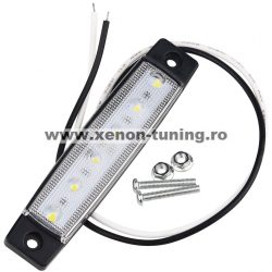 Lampa gabarit auto cu LED 12V Alba LG-6SMD-12V-ALB