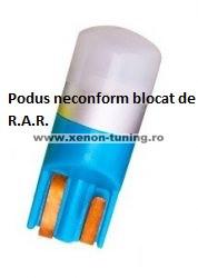 Led auto T10 (W5W) Albastru, Canbus, rezistent la apa, 1 SMD 3030 T10-3030-1SMD-ALBASTRU