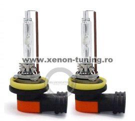 Set 2 becuri H11 xenon premium +30% mai multa lumina