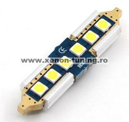 Led Auto CANBUS Sofit 42mm 6 SMD 3030 9-30V - fara polaritate