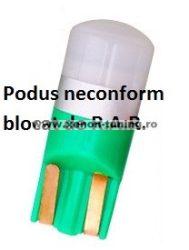 Led auto T10 (W5W) Verde, Canbus, rezistent la apa, 1 SMD 3030 T10-3030-1SMD-VERDE