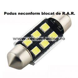 Led auto sofit 41mm Canbus 4,5W cu 6 smd 2835 - Super Bright - BTLE1285