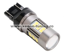 Led Auto ALB T20 7443 27 SMD 2835+LUPA 9-30V cu dubla intensitate