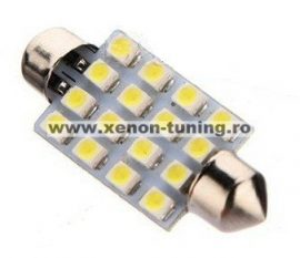 Led auto sofit cu 16 SMD 42 mm