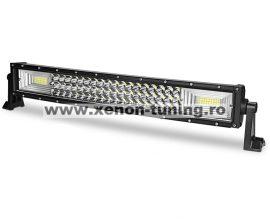 """LED Bar Auto Curbat 324W, leduri pe 3 randuri, 12V-24V, 22680 Lumeni, 21,5""""/54,6 cm, Combo Beam 12/60 Grade"""
