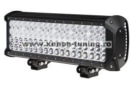 LED Bar Auto cu 2 faze (faza scurta/faza lunga) 216W/12V-24V, 18360 Lumeni, lungime 44 cm, Leduri CREE