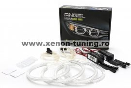 Kit Angel Eyes CCFL BMW E46 cu Far ZKW fara lupa si fara Xenon din Fabrica -2x131mm + 2x146mm