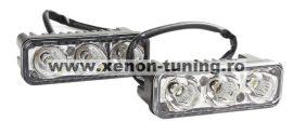 Lumini de zi DRL 3 led*3W 12V-24V Epistar