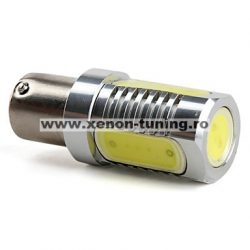 Led auto Rosu BA15S High Power cu pini simetrici la 180 grade