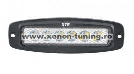 Proiector LED Auto Offroad 18W/12V-24V, 1320 Lumeni, 20cm Incastrabil Flood 60 grade BTWL-B1OE-18-FLOOD