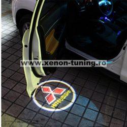 Proiectoare Portiere cu Logo Mitsubishi - BTLW013