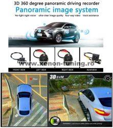 Sistem parcare 360 grade 3D cu 4 camere wide angle bird eye