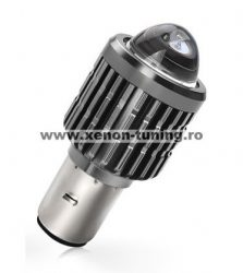Bec LED BA20D (H6) pentru far moto, Atv, scuter, putere 15W, luminozitate 1200 Lm, 12V BA20D-15W