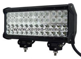 LED Bar Auto cu 2 faze (faza scurta/faza lunga) 144W/12V-24V, 12240 Lumeni, lungime 30,5 cm, Leduri CREE