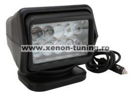 Proiector LED Rotativ cu Telecomanda Wireless 50W, 4000 lumeni, SPOT Beam, Negru - A4SX-50-NEGRU