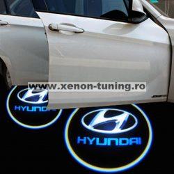 Proiectoare Portiere cu Logo Hyundai - BTLW065