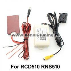 Interfata video, convertor CVBS-RGBS pentru montare camera marsarier aftermarket la RNS510 si RCD510
