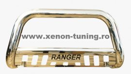 """Bullbar inox cu scut Ford Ranger T7 2016, 2017, 2018, 2019 Ø76mm / 3"""" FDA658"""