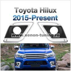 Lumini de zi dedicate Toyota Hilux Revo 2015, 2016, 2017, 2018, 2019 TYL809