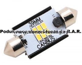 Led Auto Sofit 39mm Canbus 6 SMD 3020 fara polaritate - BTLE1276-39