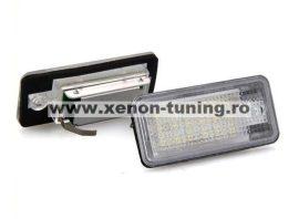 Set lampi numar led Audi Q7, A3, A4, A6, RS4, RS6, S6 - BTLL-034