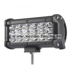 """LED Bar Auto 54W, leduri pe 3 randuri, 12V-24V, 3780 Lumeni, 5""""/12,7 cm, Spot Beam 12 Grade"""
