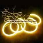 Kit Angel Eyes CCFL Galben OEM pentru BMW E46 Compact - 2x106mm+2x131mm